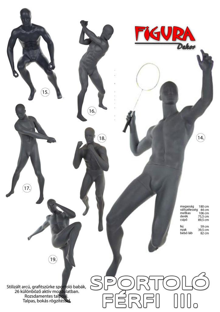Sportoló férfi III. kirakati baba
